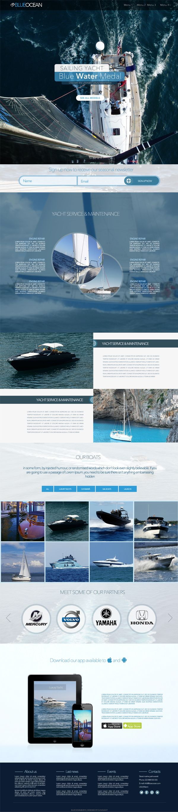 BlueOcean - One Page HTML Template Screenshot 1