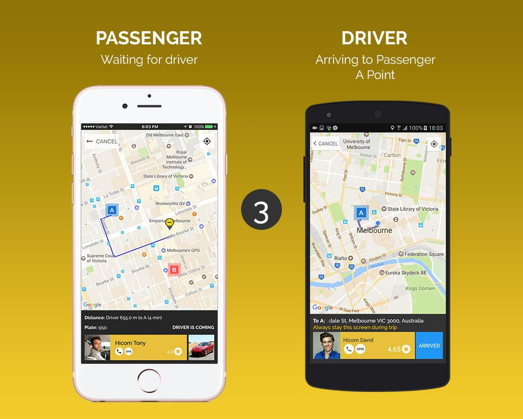 Uber Style Taxi App - iOS Source Code Screenshot 3