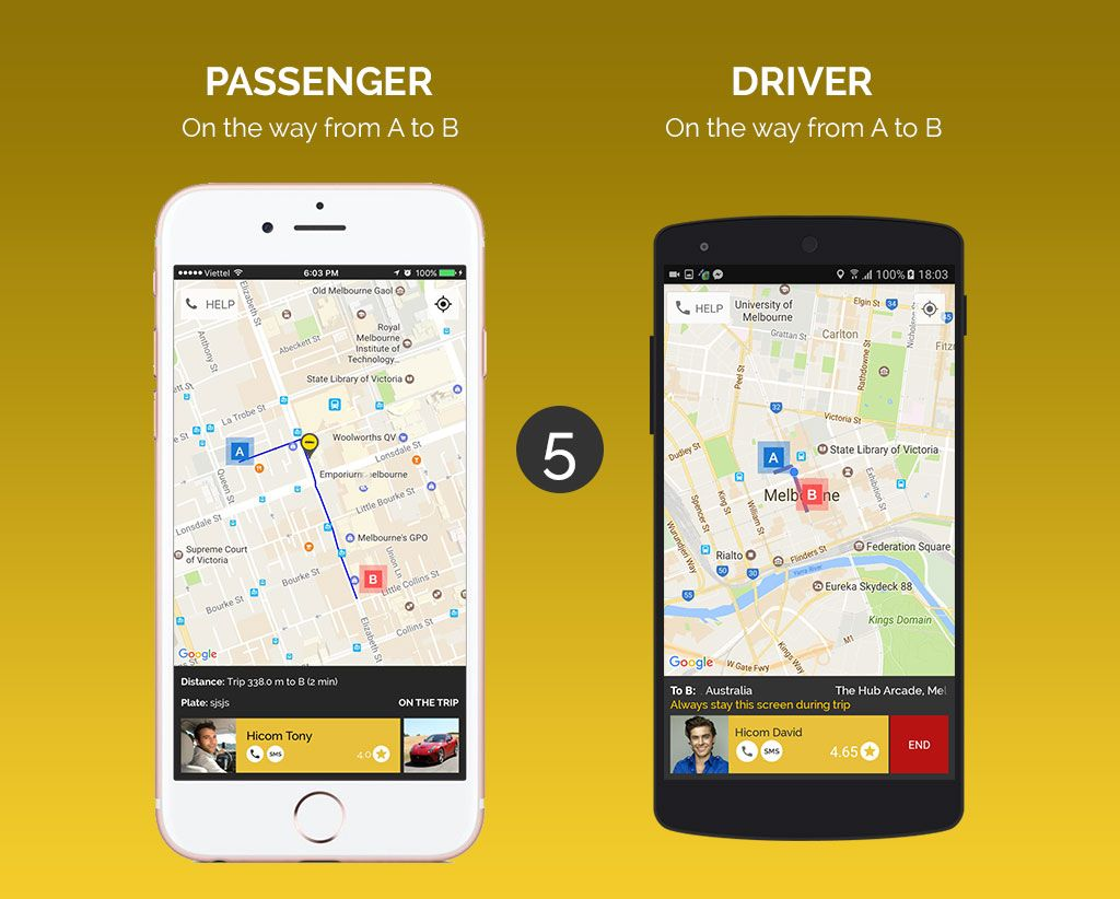 Uber Style Taxi App - iOS Source Code Screenshot 5