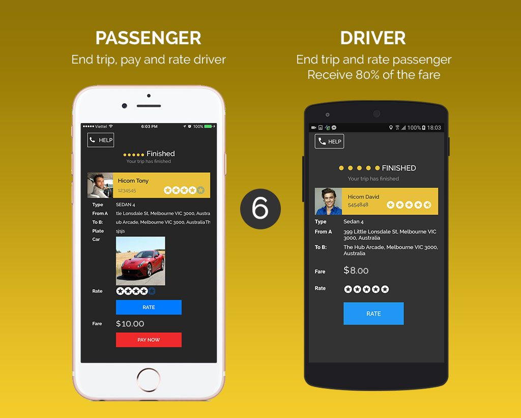 Uber Style Taxi App - iOS Source Code Screenshot 6