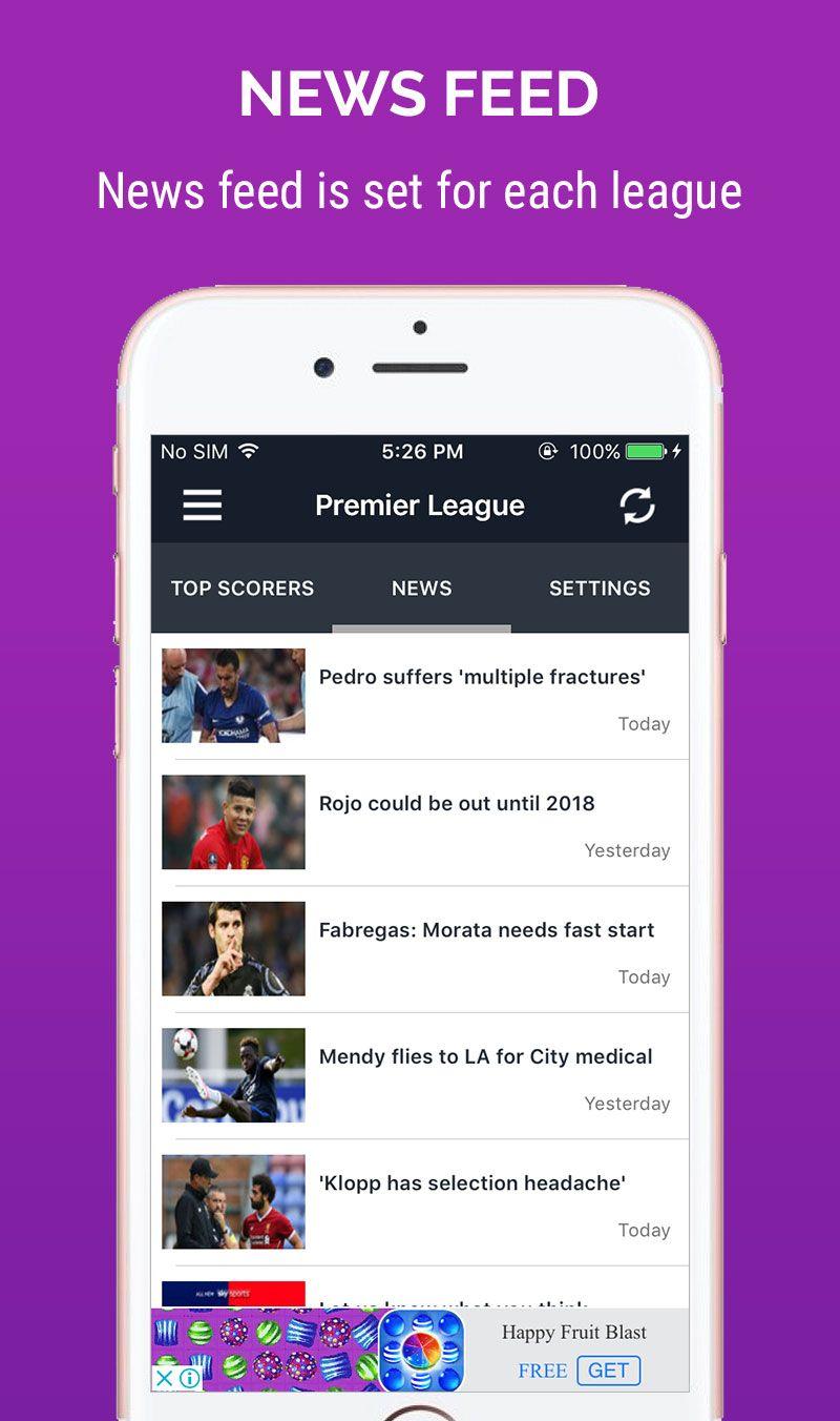 Live score football ios app template ios app templates for Titanium app templates