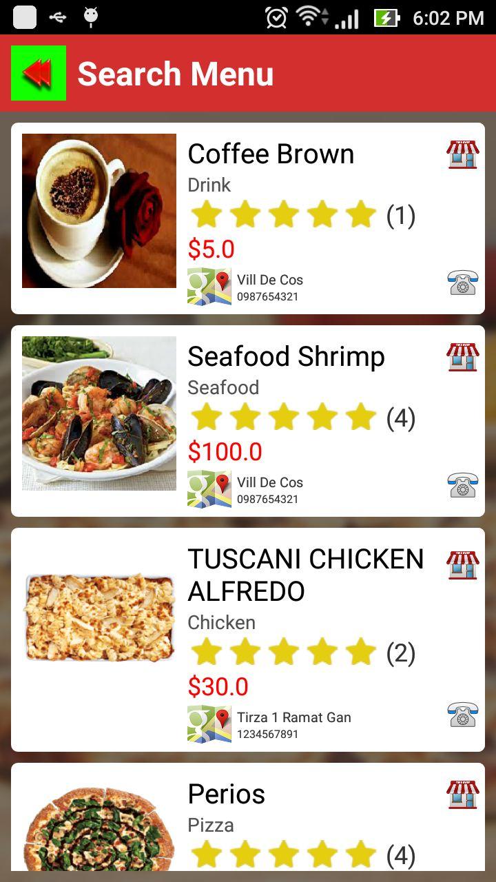 Multiple Social Restaurants - Android App Template