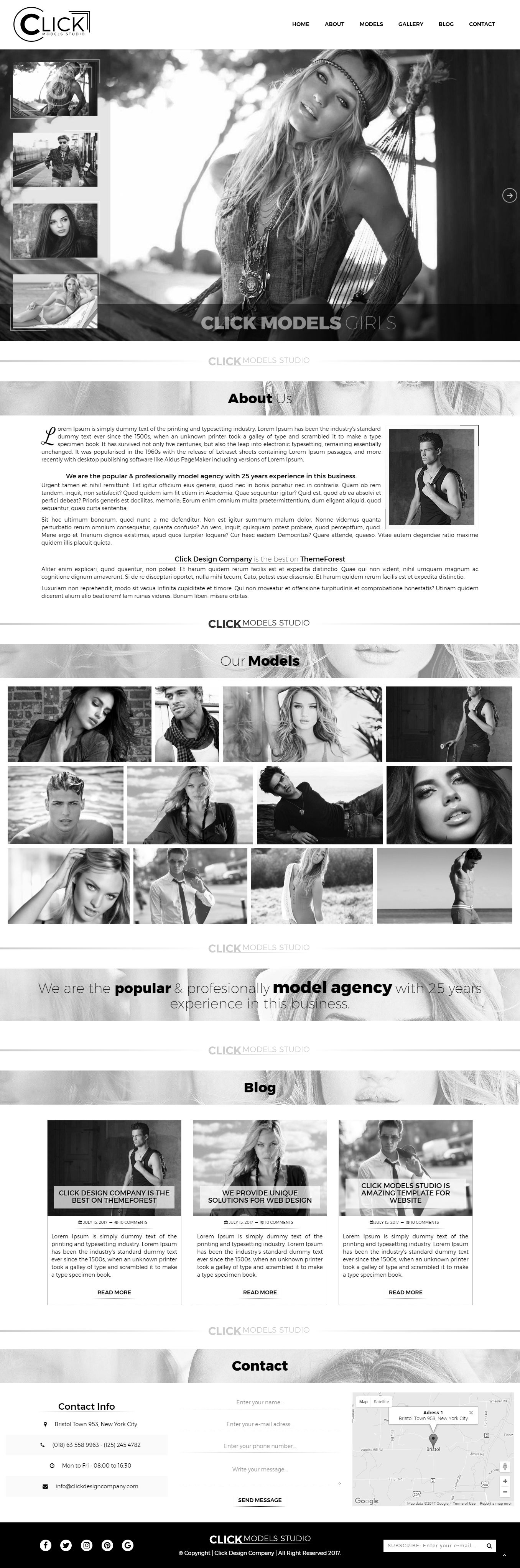 Click Models Studio - HTML Template Screenshot 1