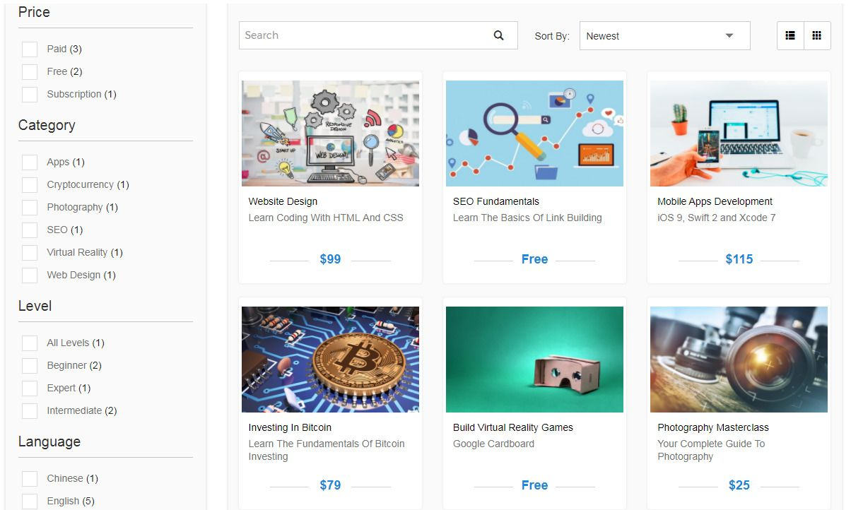 Edivently - Sell Courses WordPress Plugin Screenshot 3