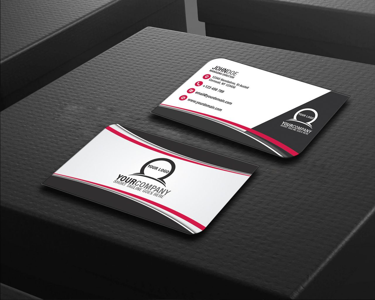 Simple Professional Business Card Design - Style 2 - Business Card ...