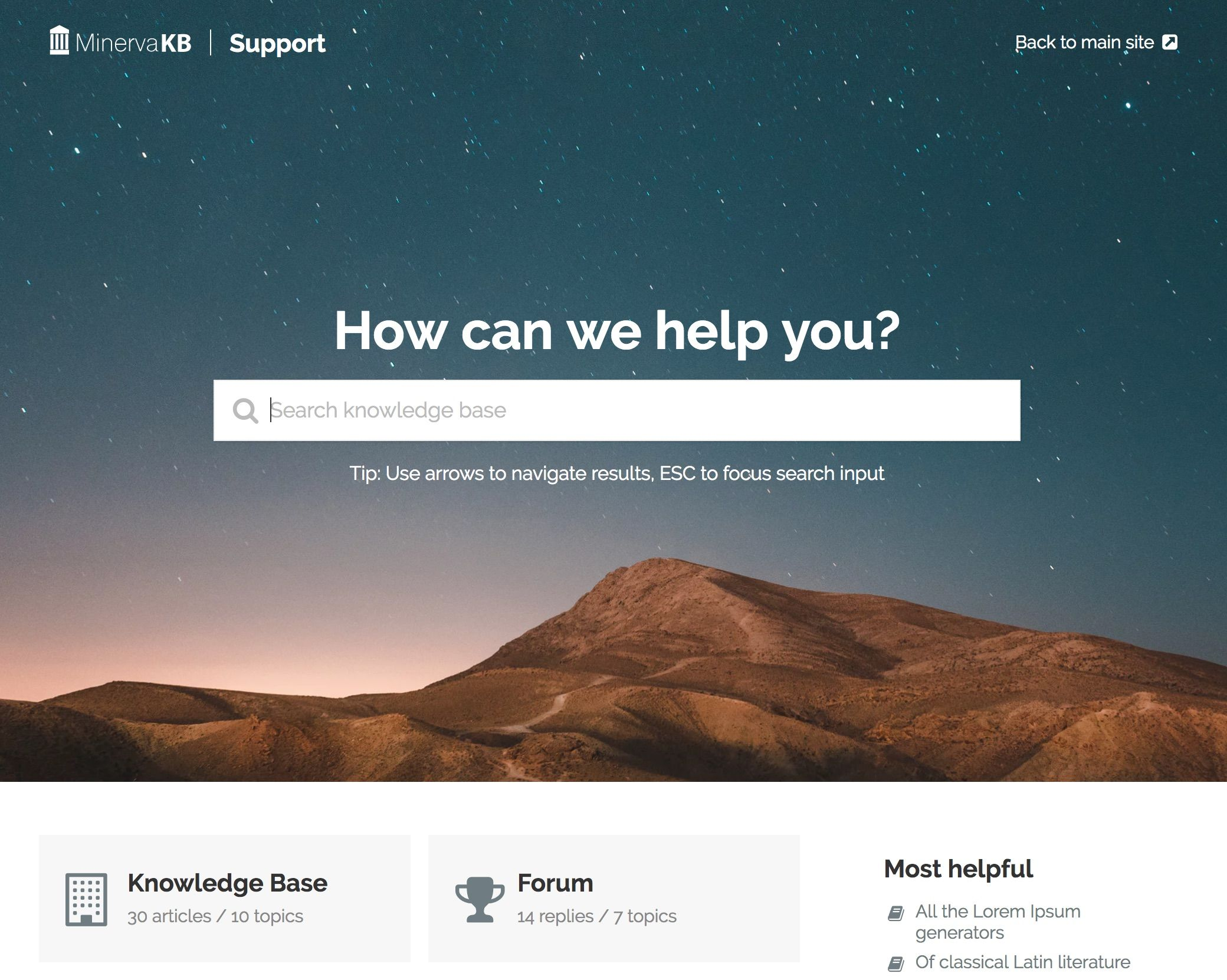 MinervaKB - WordPress Help Center Theme Screenshot 2