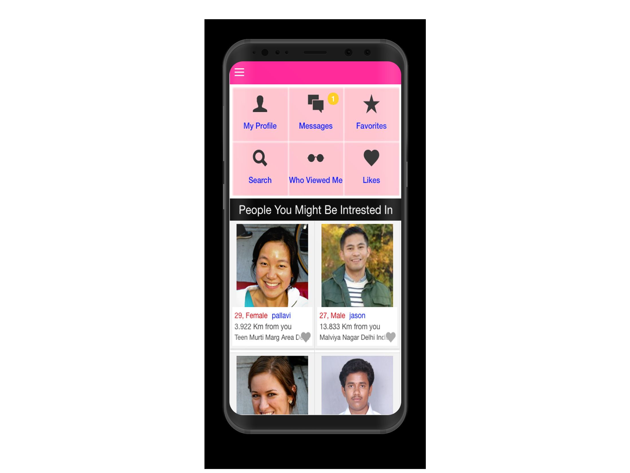 Dating Mobile App Ionic with Full PHP Admin SQL Screenshot 2