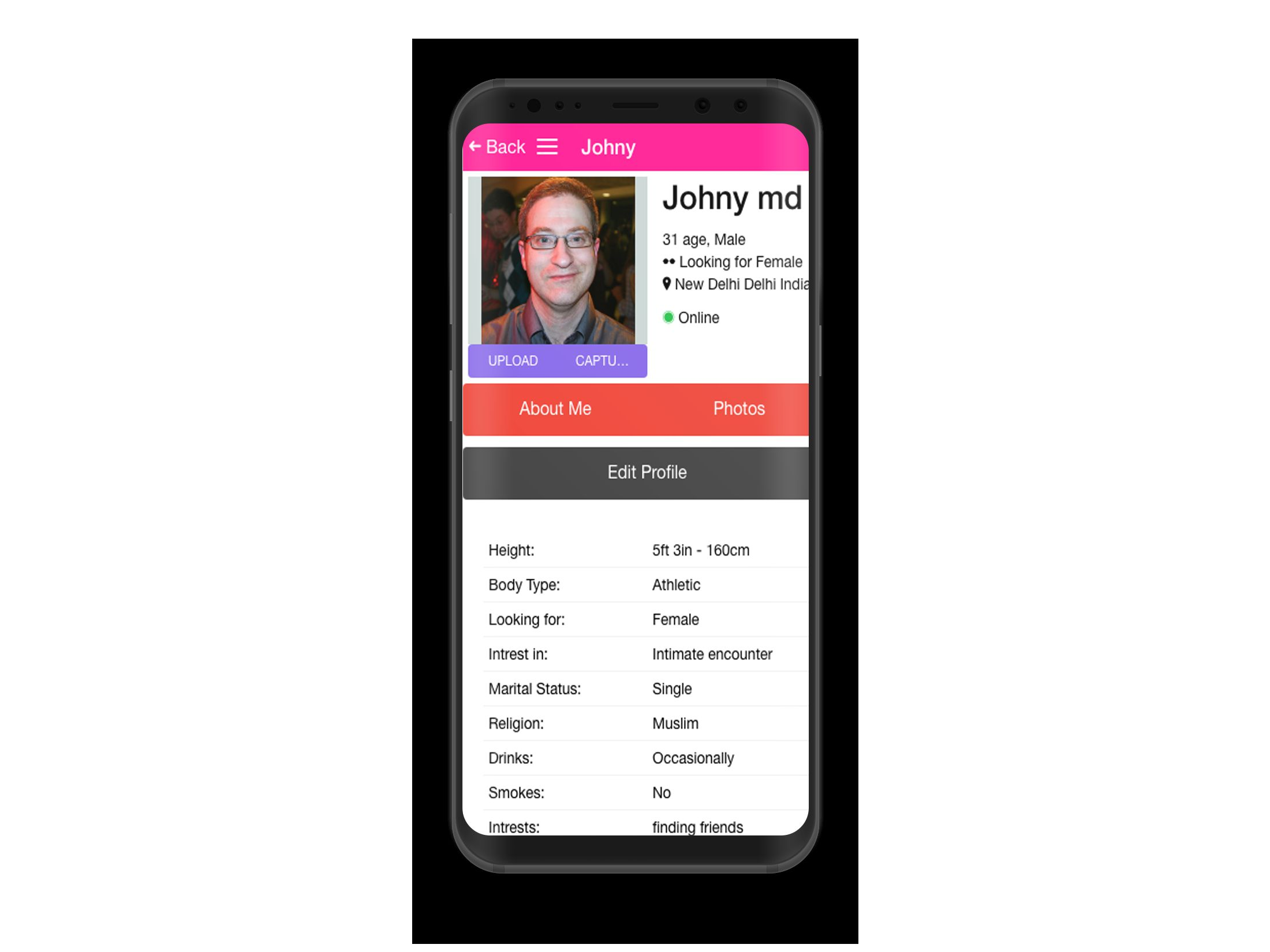 Dating Mobile App Ionic with Full PHP Admin SQL Screenshot 3