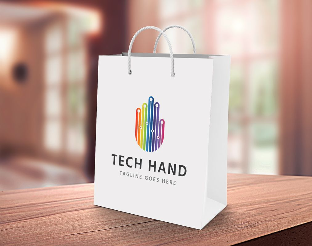 Tech Hand Logo Template Screenshot 4