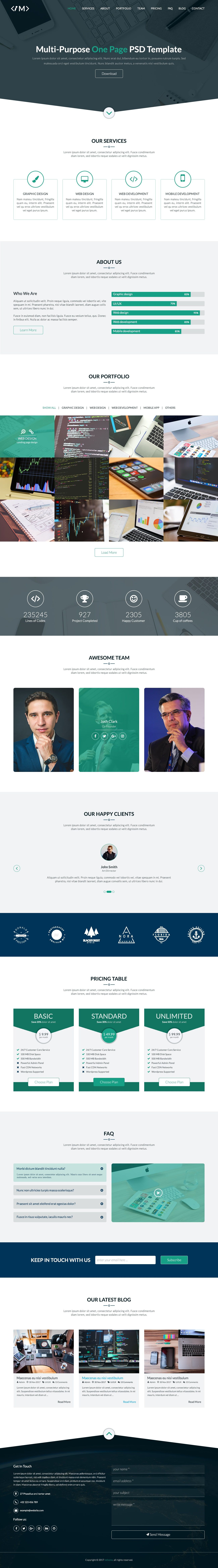 MTheme - Multi-Purpose One Page PSD Template Screenshot 7