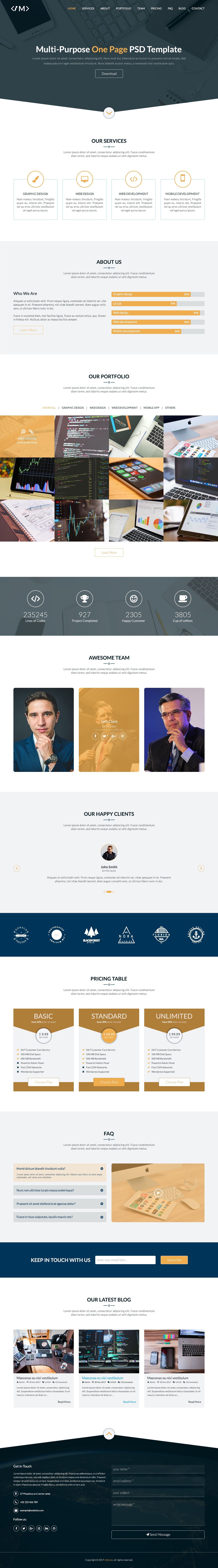 MTheme - Multi-Purpose One Page PSD Template Screenshot 15