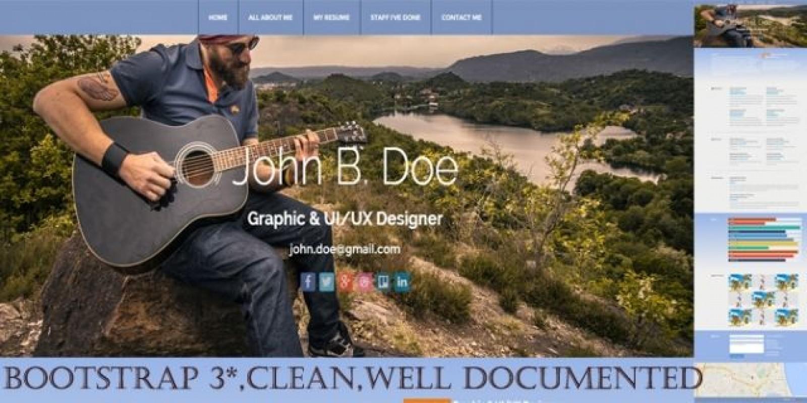 skilled john doe resume  portfolio