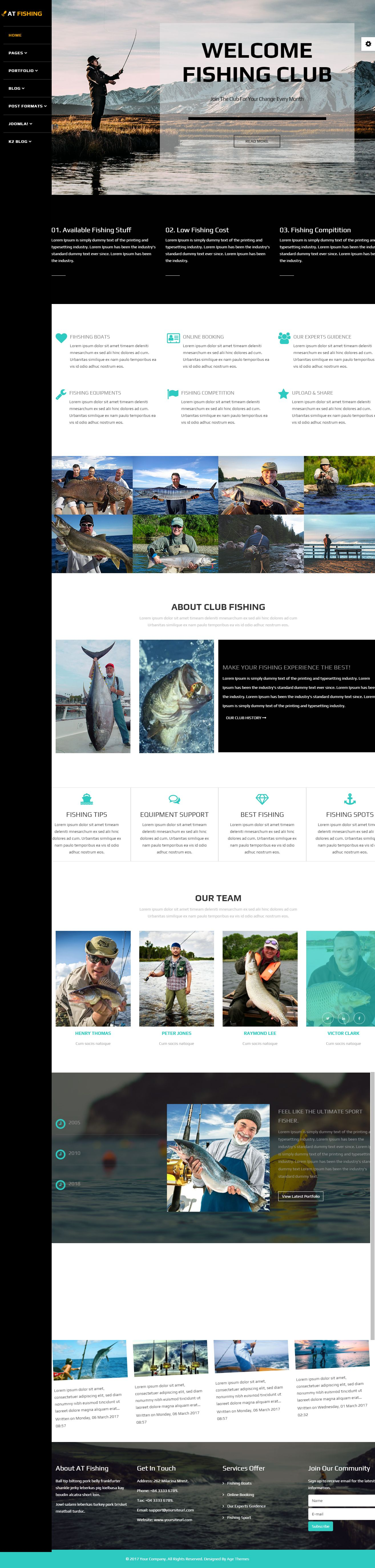 AT Fishing - Responsive Fishing Joomla Template Screenshot 1