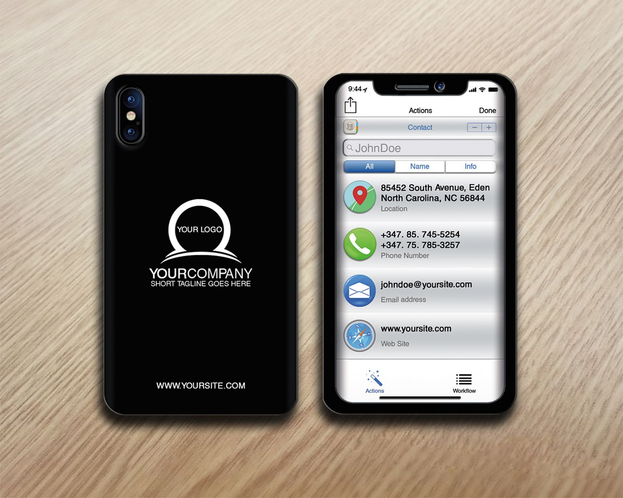 Miphone Business Card Design Screenshot 1