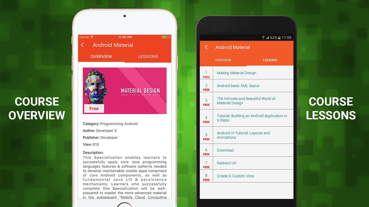 E-Course - Android App Template Screenshot 5