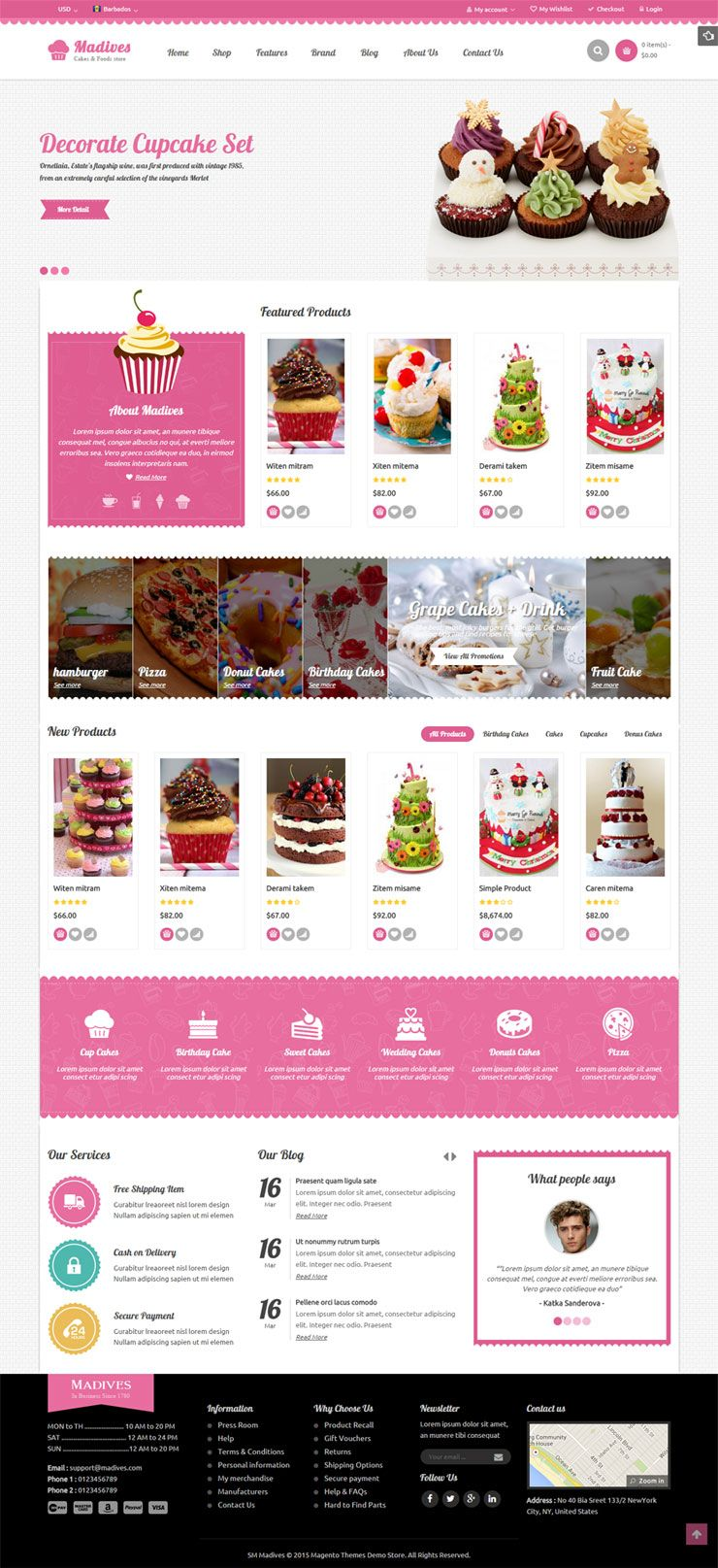 SM Madives - Responsive Multipurpose Magento Theme Screenshot 1