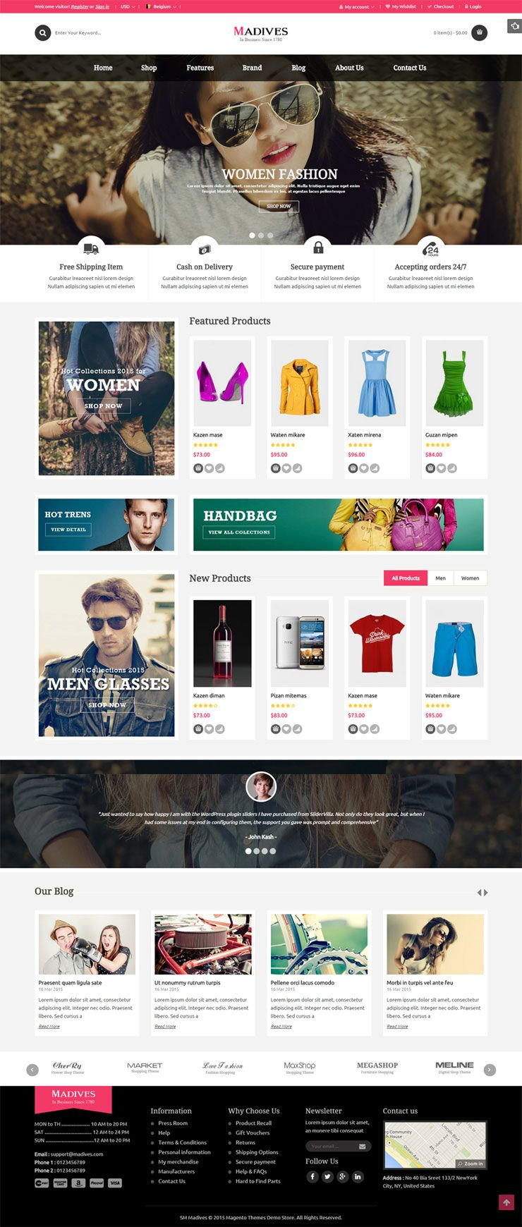 SM Madives - Responsive Multipurpose Magento Theme Screenshot 3