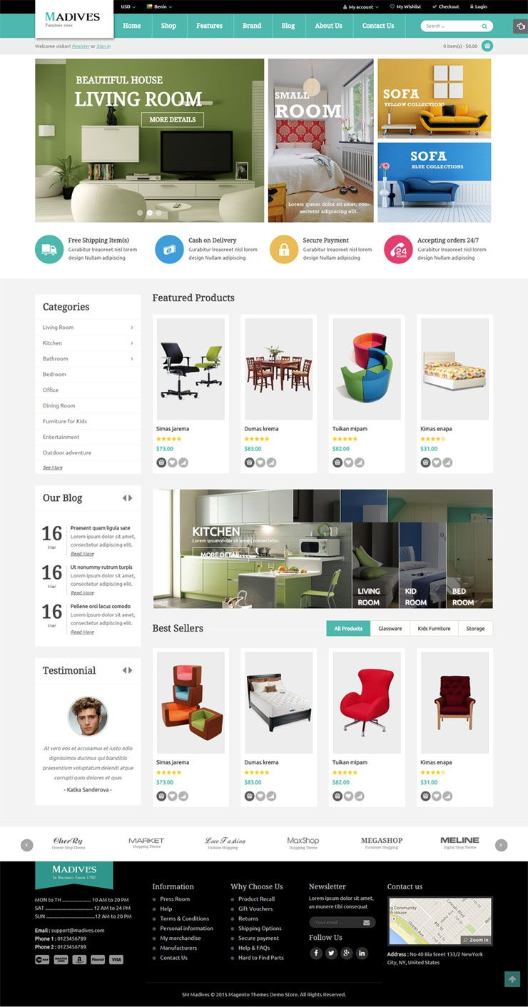SM Madives - Responsive Multipurpose Magento Theme Screenshot 4