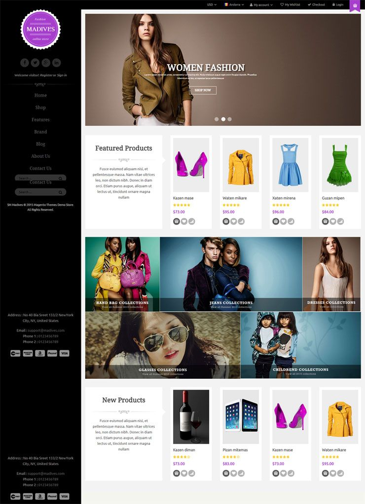 SM Madives - Responsive Multipurpose Magento Theme Screenshot 5