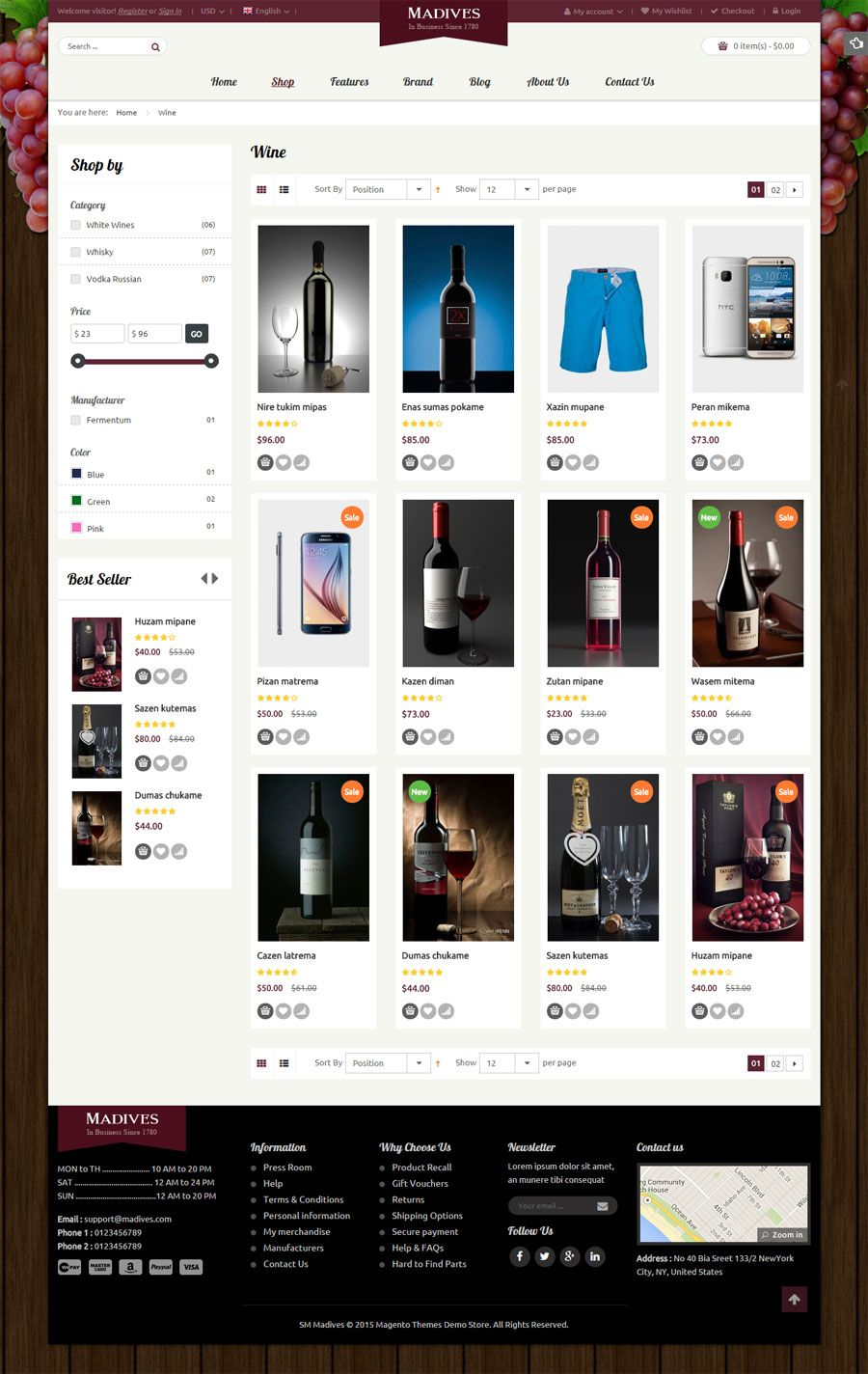 SM Madives - Responsive Multipurpose Magento Theme Screenshot 6