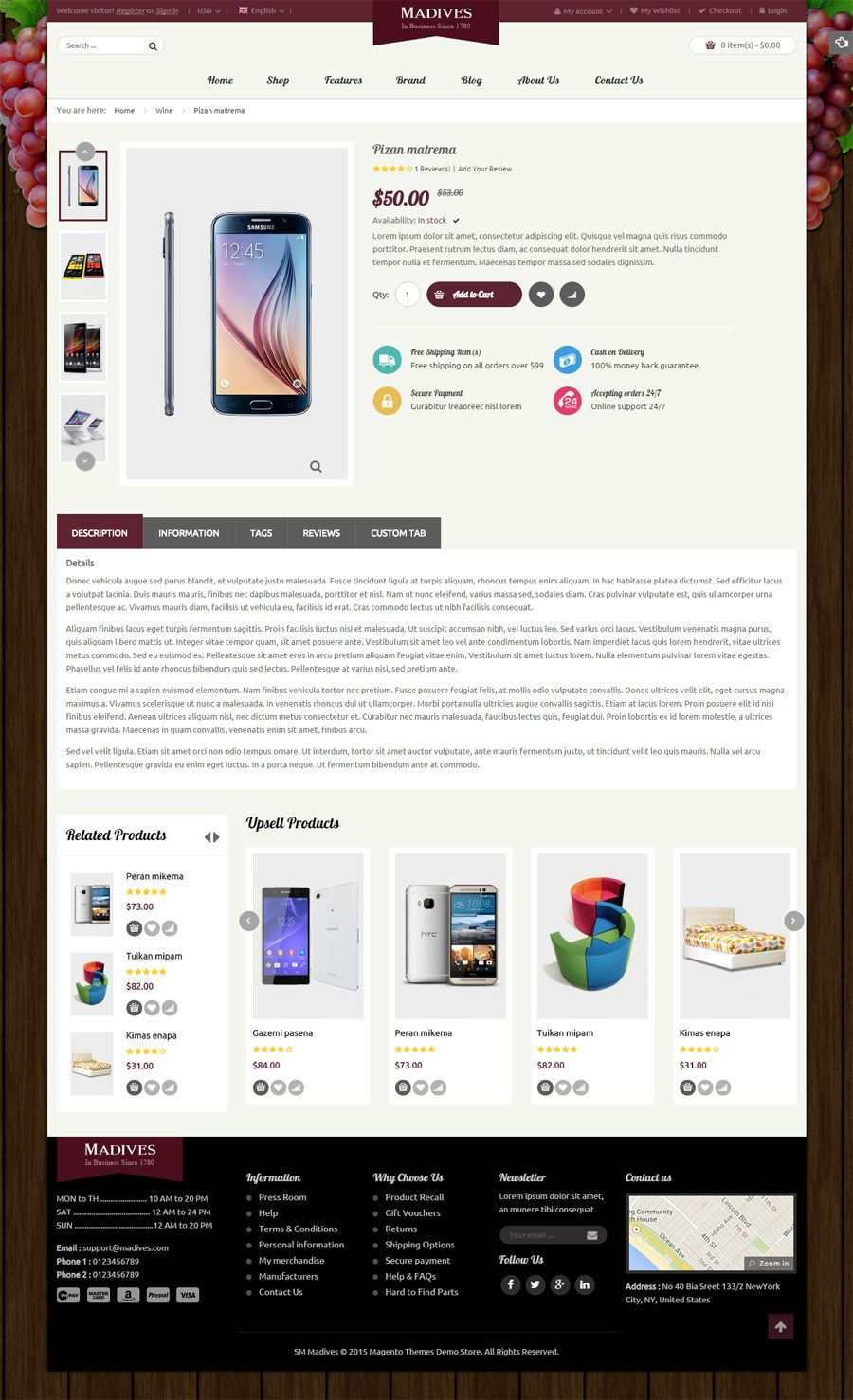 SM Madives - Responsive Multipurpose Magento Theme Screenshot 7