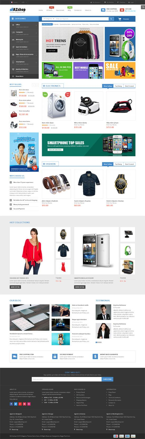 SM Azshop - Responsive Multipurpose Magento Theme Screenshot 2
