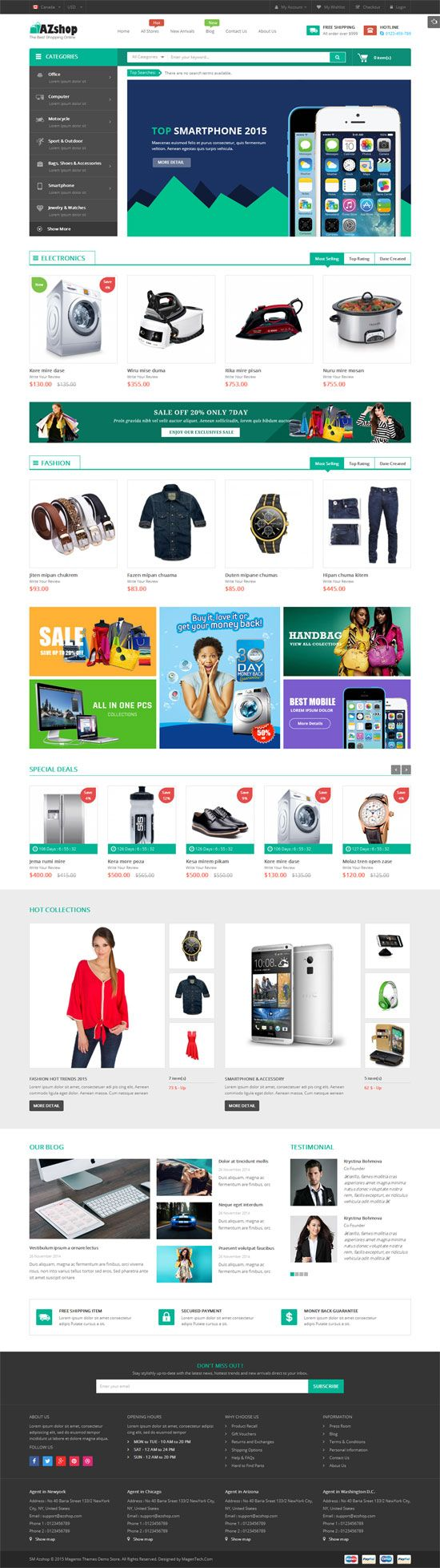SM Azshop - Responsive Multipurpose Magento Theme Screenshot 3