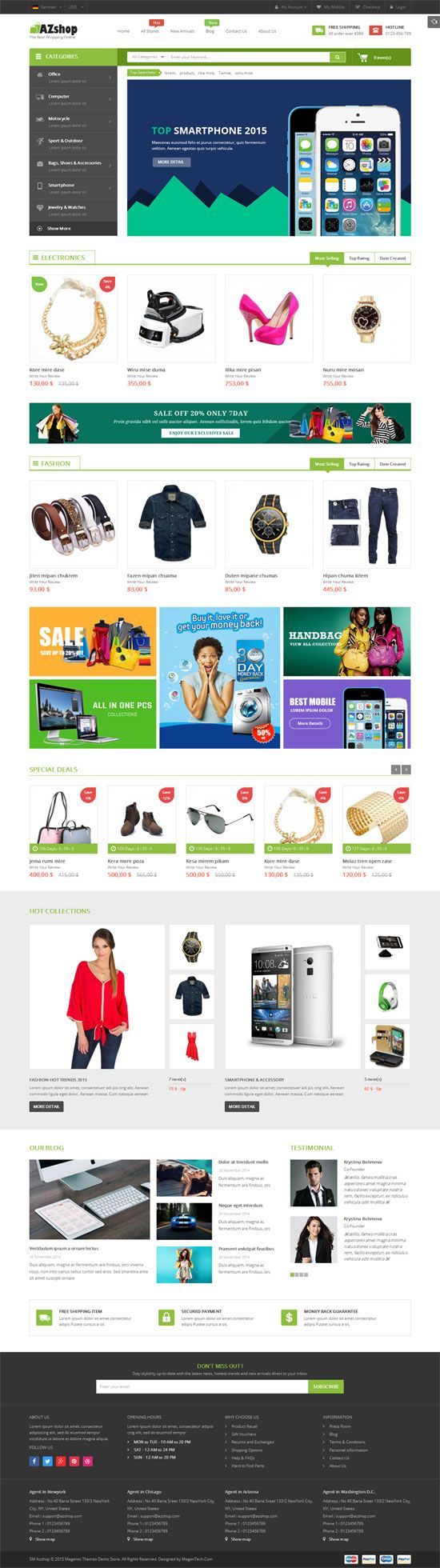SM Azshop - Responsive Multipurpose Magento Theme Screenshot 4