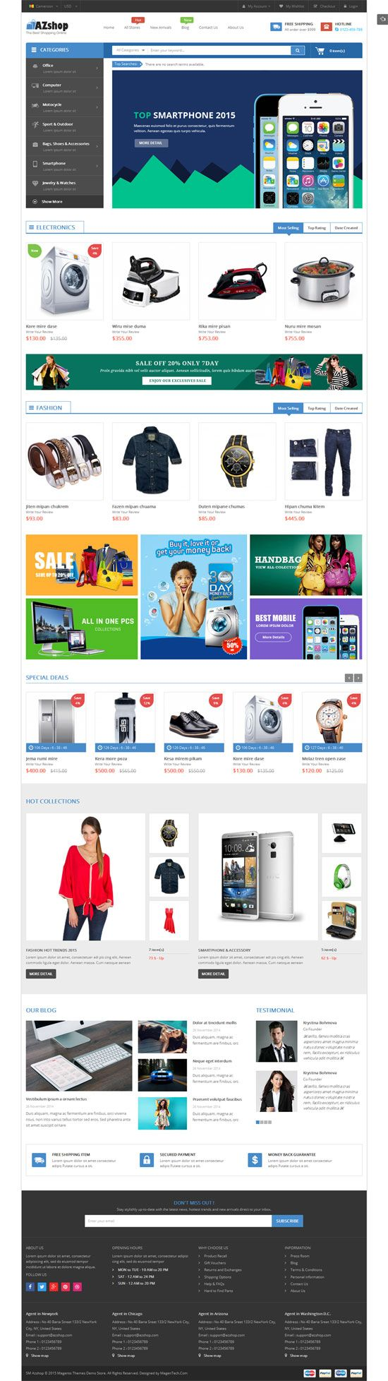 SM Azshop - Responsive Multipurpose Magento Theme Screenshot 6