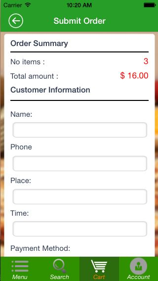 Food Ordering - iOS Source Code Screenshot 4