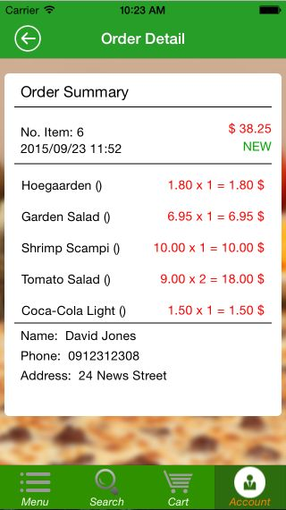 Food Ordering - iOS Source Code Screenshot 9