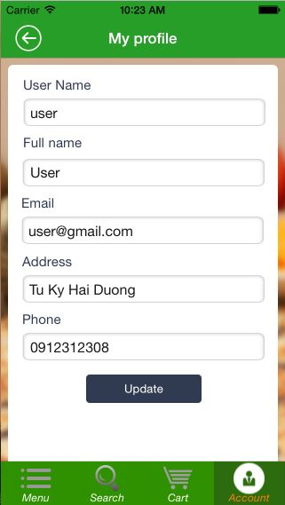 Food Ordering - iOS Source Code Screenshot 10