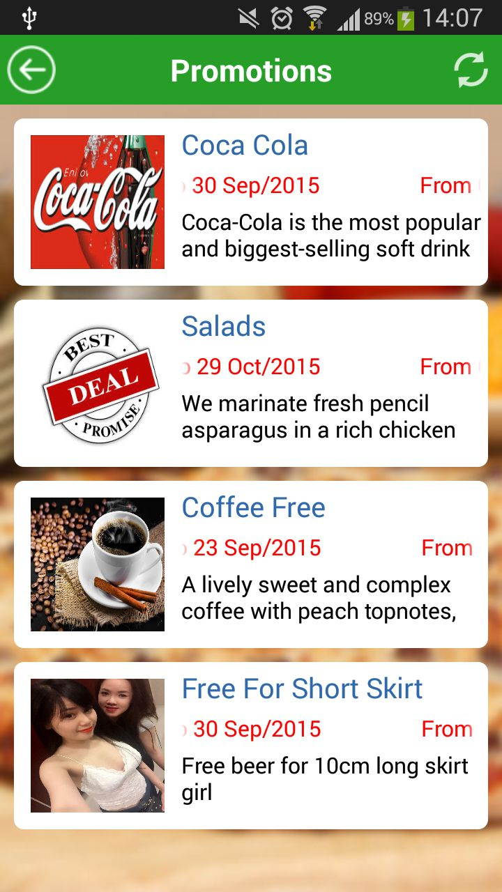 Food Ordering - Android Source Code Screenshot 2