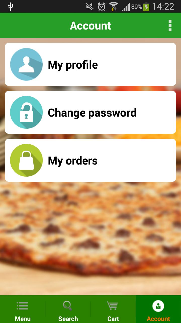 Food Ordering - Android Source Code Screenshot 11