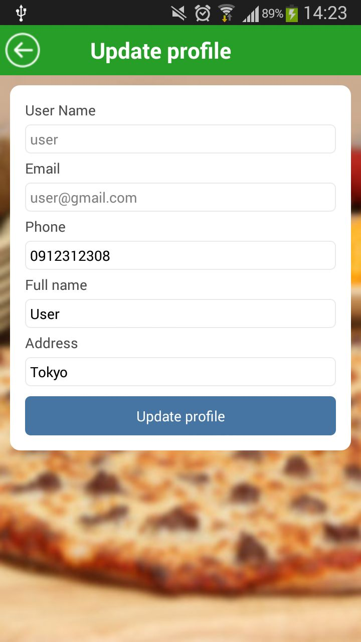 Food Ordering - Android Source Code Screenshot 12