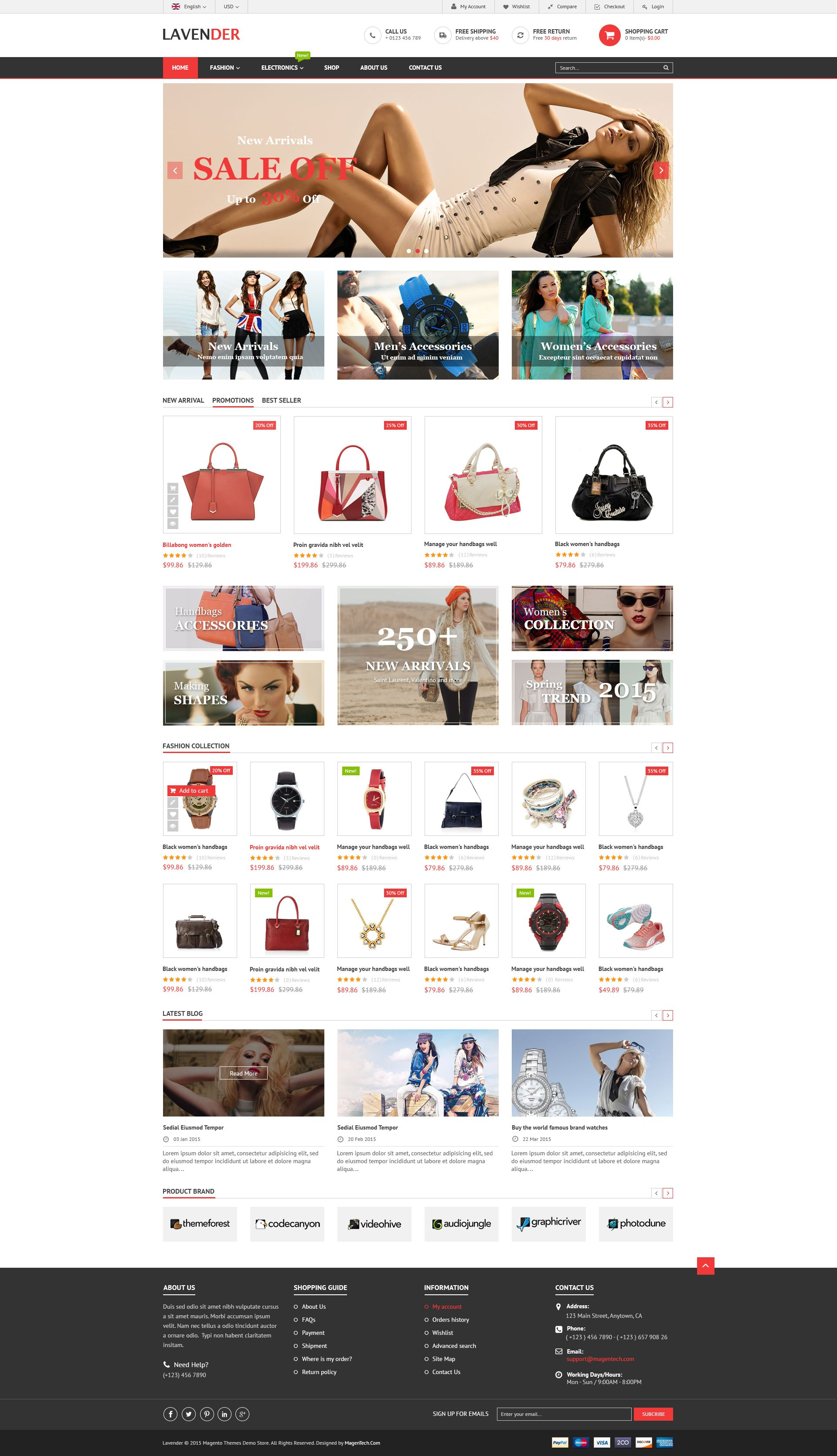 SM Lavender - Multipurpose Magento Theme Screenshot 1