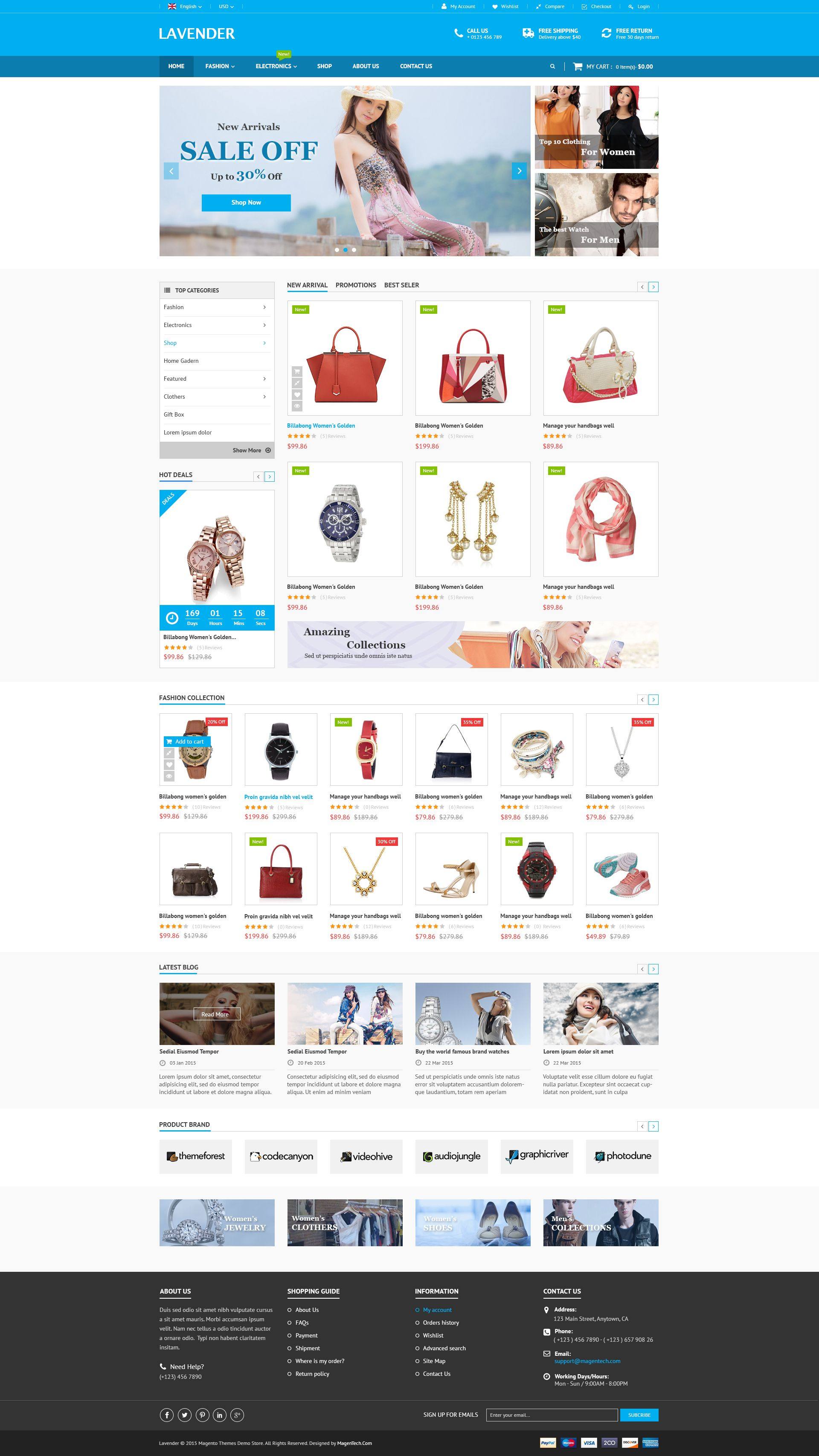 SM Lavender - Multipurpose Magento Theme Screenshot 2