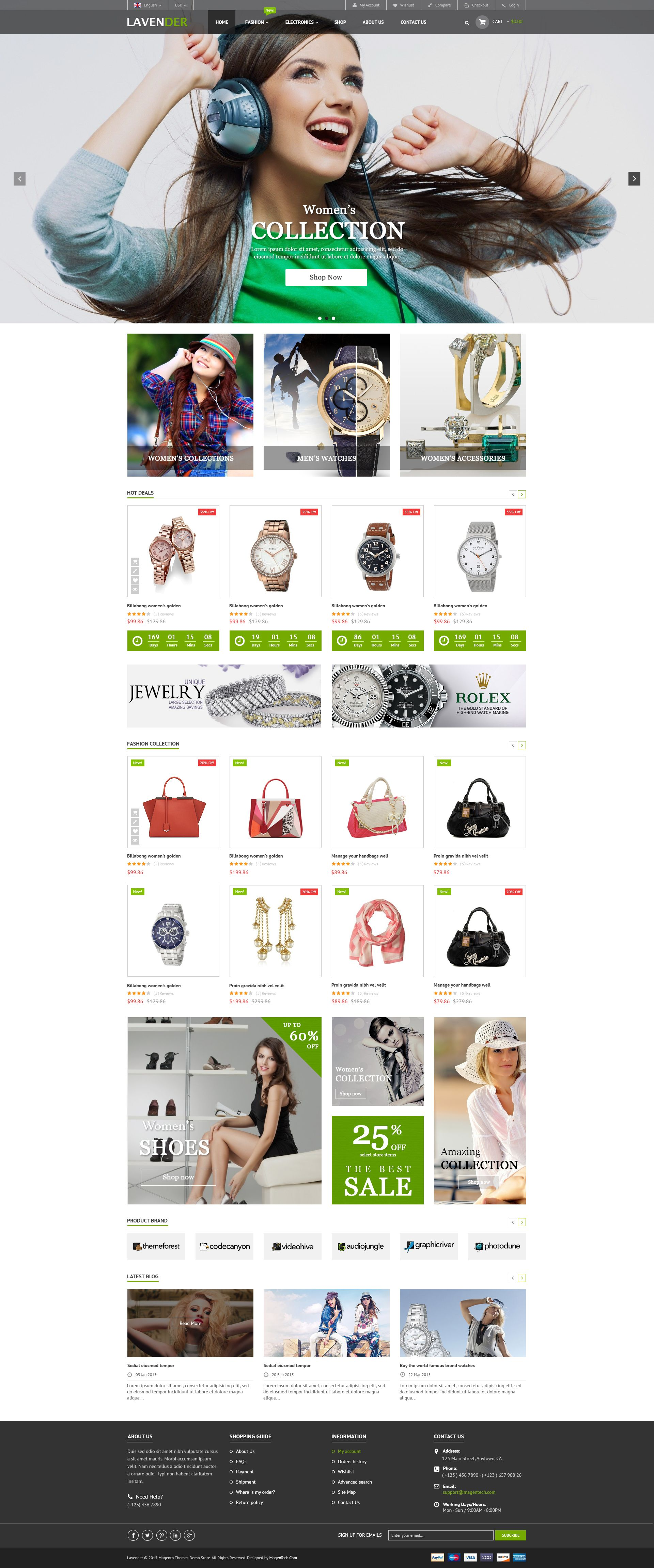 SM Lavender - Multipurpose Magento Theme Screenshot 3