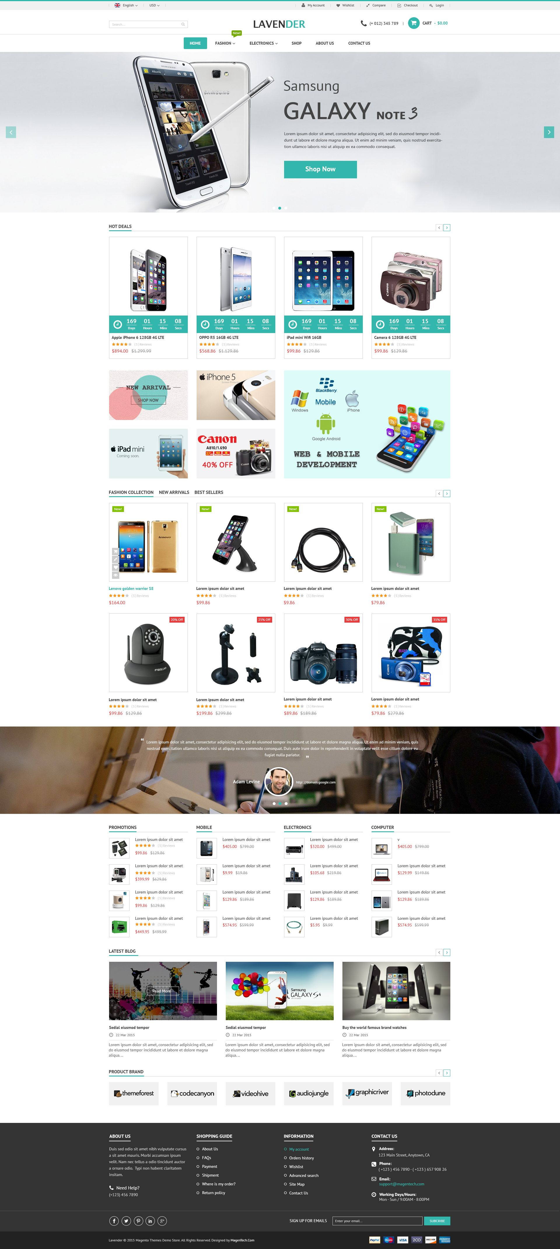 SM Lavender - Multipurpose Magento Theme Screenshot 4