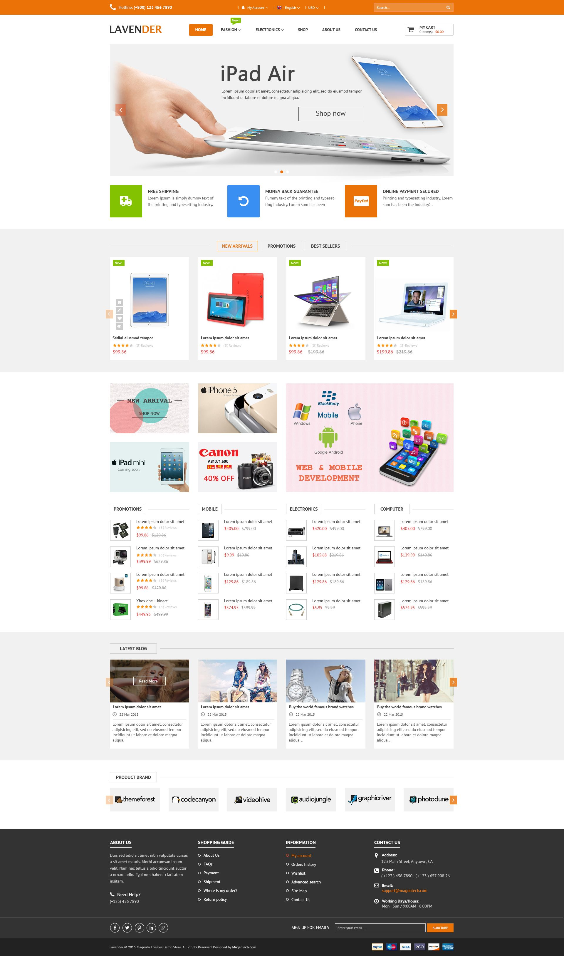 SM Lavender - Multipurpose Magento Theme Screenshot 5