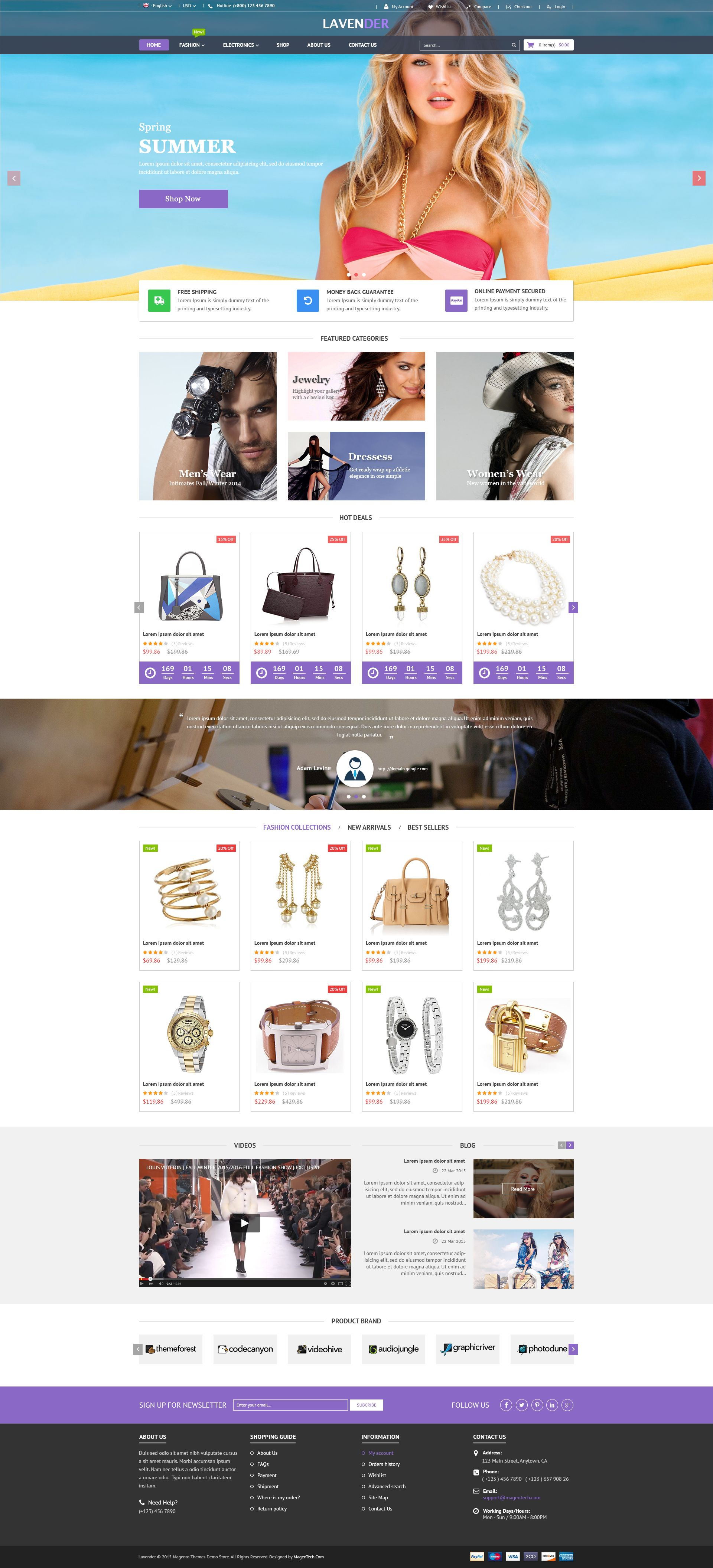SM Lavender - Multipurpose Magento Theme Screenshot 6