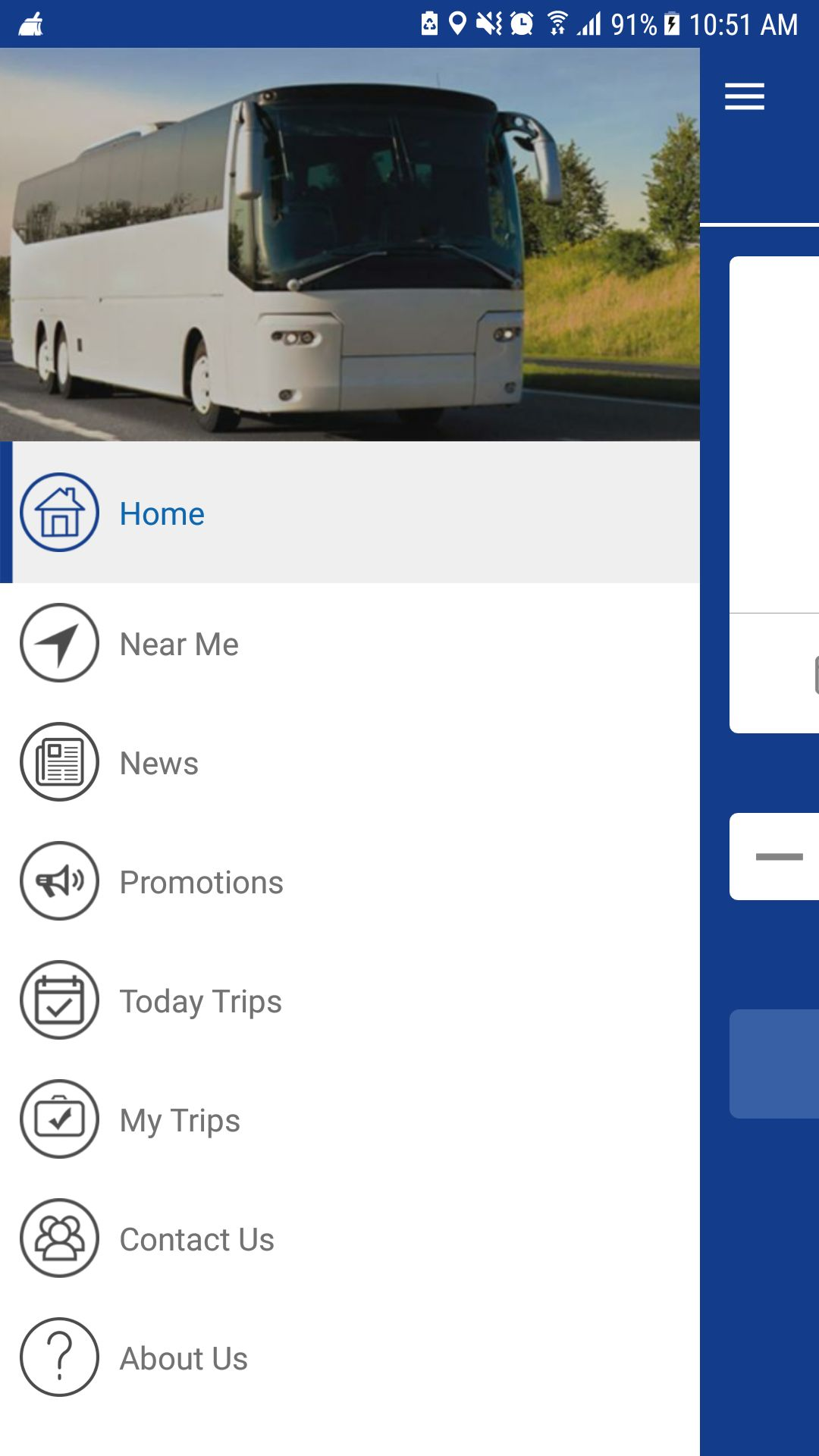 Bus Ticket Booking - Android App Source Code Screenshot 1