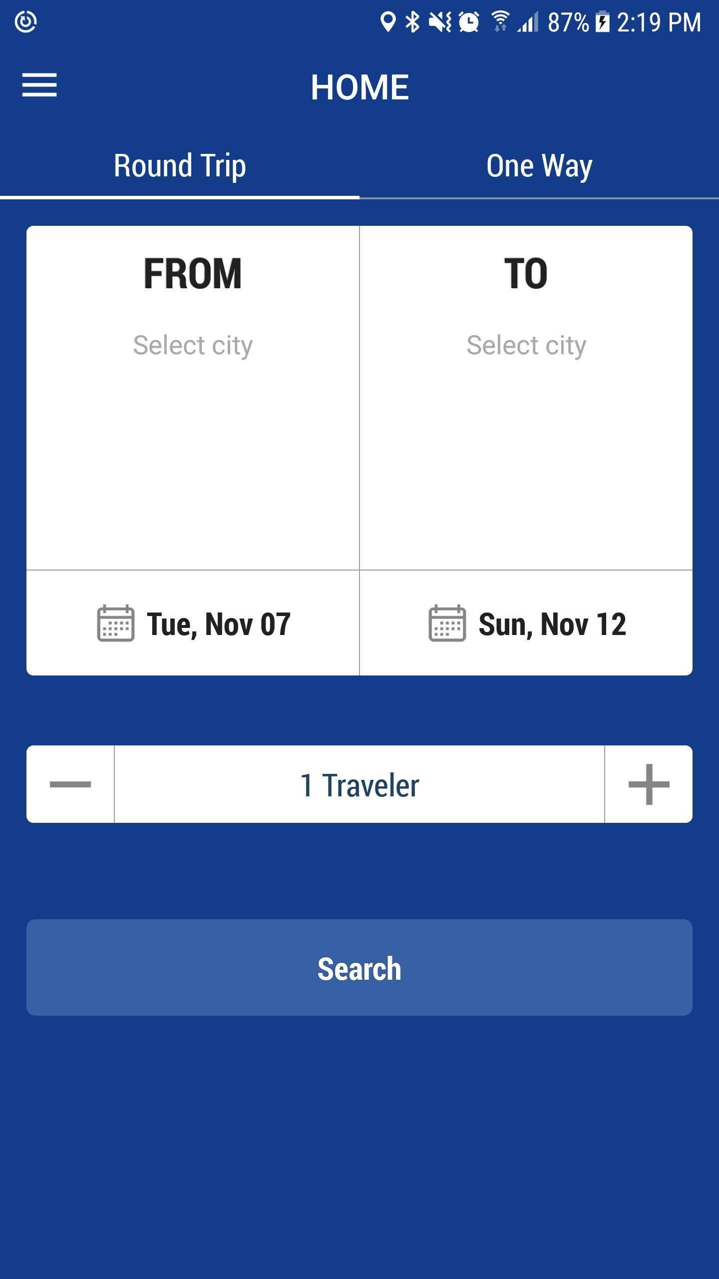 Bus Ticket Booking - Android App Source Code Screenshot 3