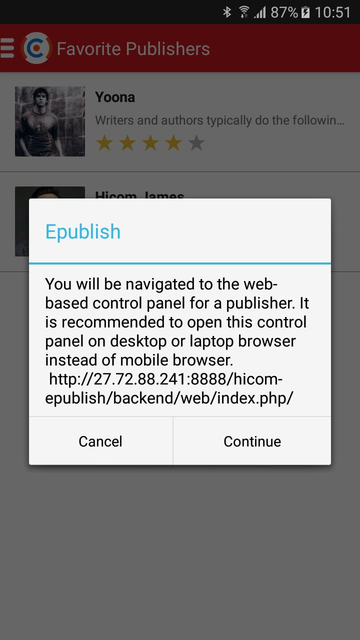 ePublish Marketplace - Android Source Code Screenshot 7