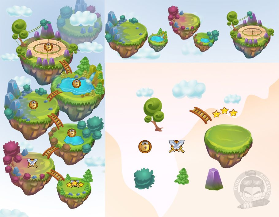 World Game Level Map Assets Screenshot 2