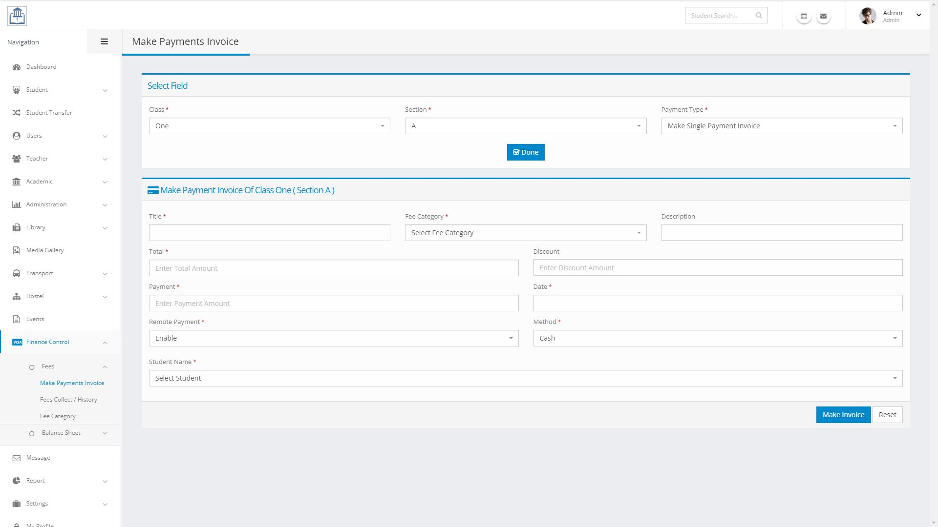 Rudras - School Management System PHP Screenshot 10