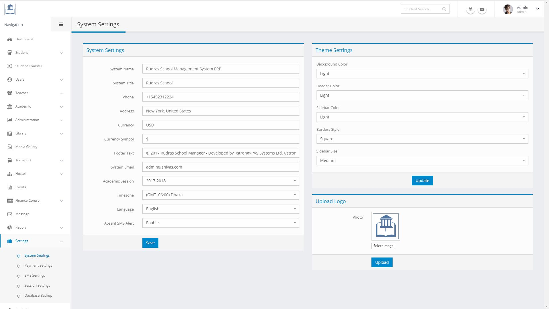 Rudras - School Management System PHP Screenshot 13