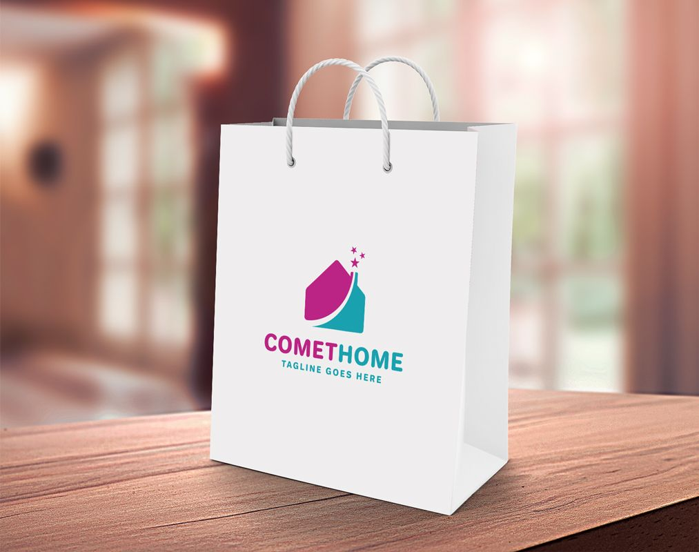 Comet Home Logo Template Screenshot 3