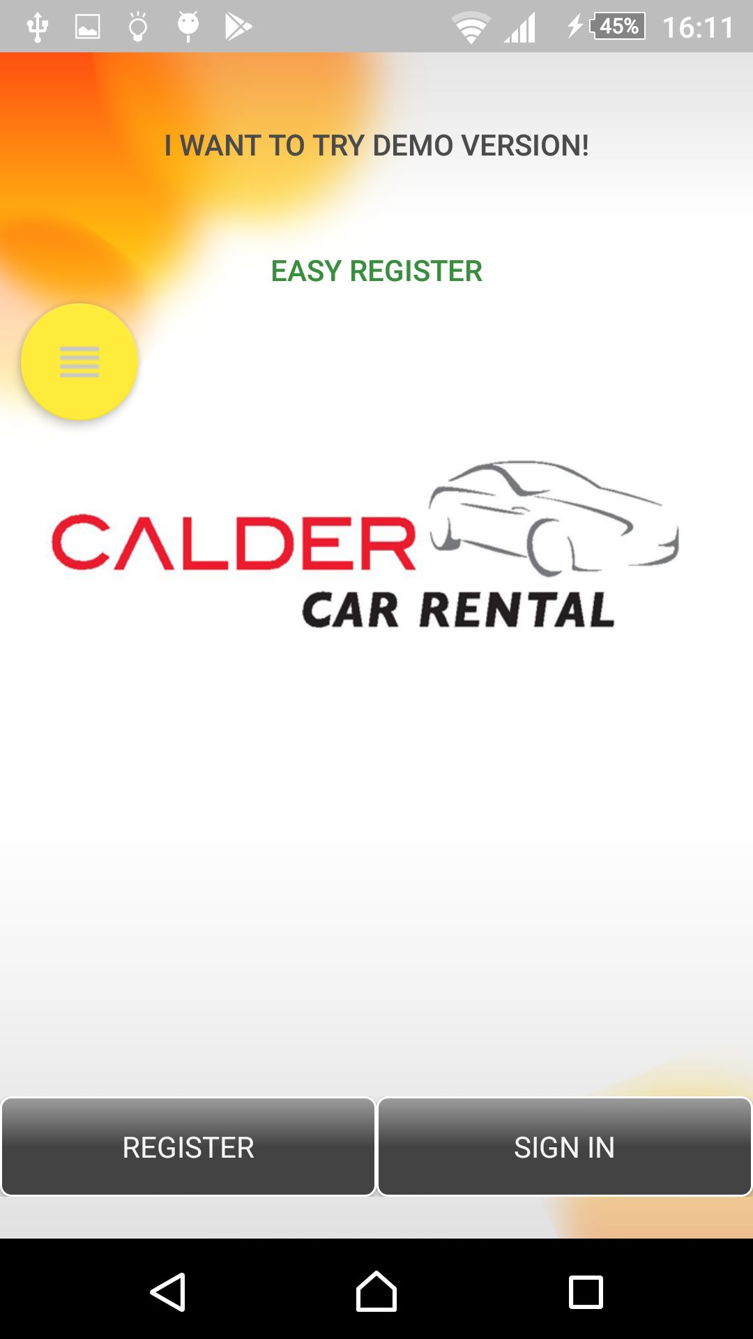 Car Rental - Android Source Code With Backend Screenshot 2