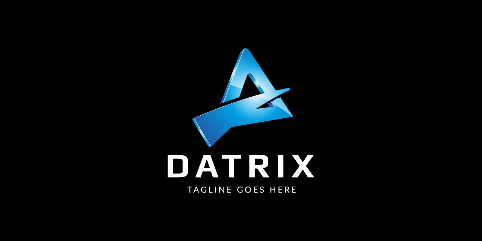 Datrix  Logo Template Screenshot 2
